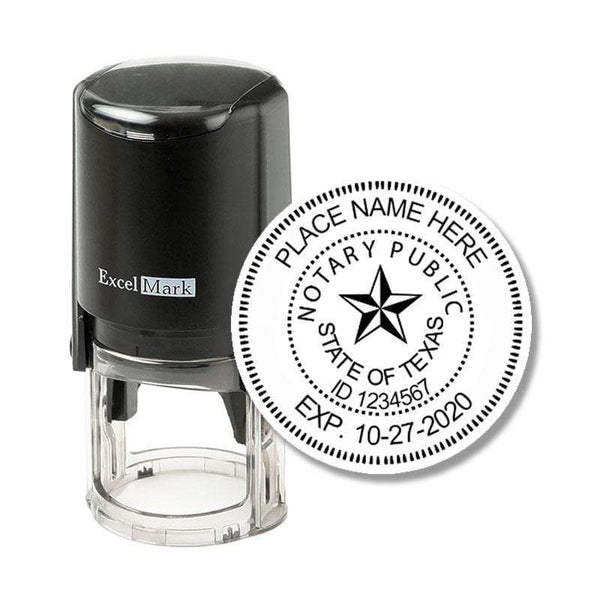 Notary Stamp Texas Notary Stamp - Round Self-Inking