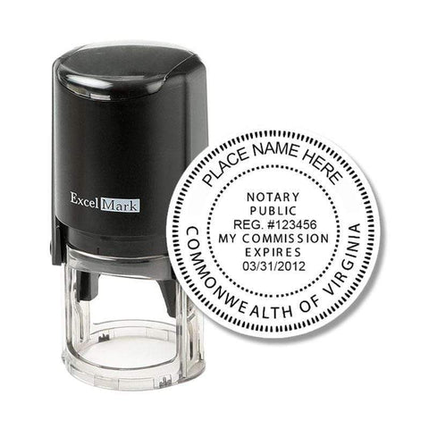 Notary Stamp Virginia Notary Stamp - Round Self-Inking