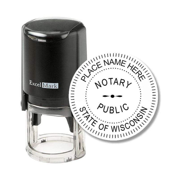 Notary Stamp Wisconsin Notary Stamp - Round Self-Inking