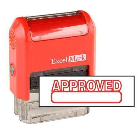 Office Stamps Approved Stamp (Two Color)