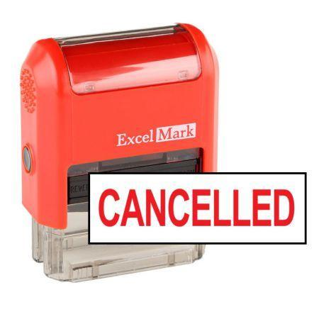 Office Stamps Cancelled Stamp (Two Color)