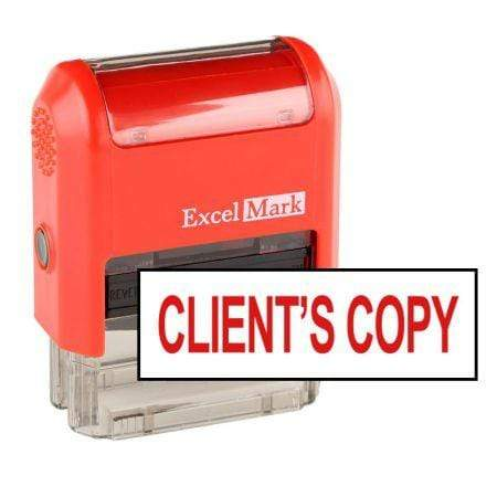 Office Stamps Client's Copy Stamp (Two Color)