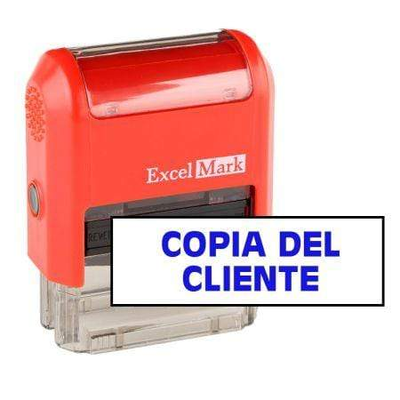 Office Stamps Copia Del Cliente Bold Stamp (Two Color)