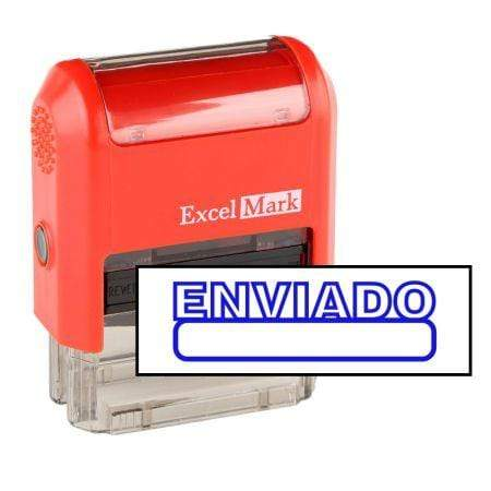 Office Stamps Enviado Stamp (Two Color)