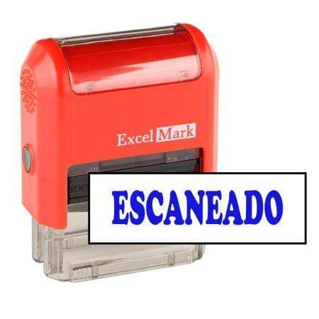 Office Stamps Escaneado Stamp (Two Color)