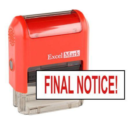 Office Stamps Final Notice! Stamp (Two Color)