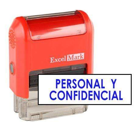 Office Stamps Personal Y Confidencial Stamp (Two Color)