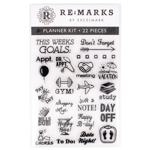 Planner Cling Stamp Set