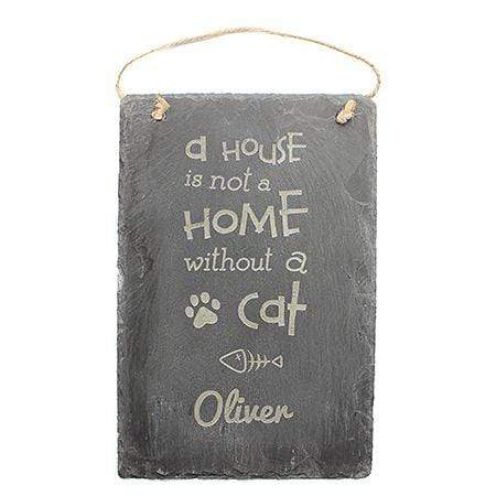 Slate Boards Cat Engraved Slate Sign
