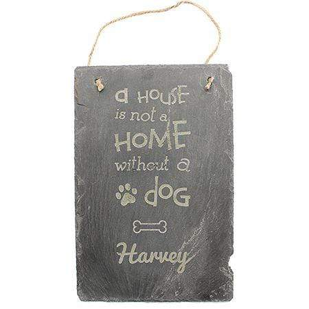 Slate Boards Dog Engraved Slate Sign