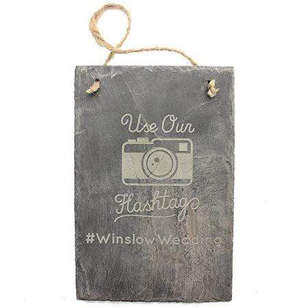Slate Boards Hashtag Engraved Slate Sign