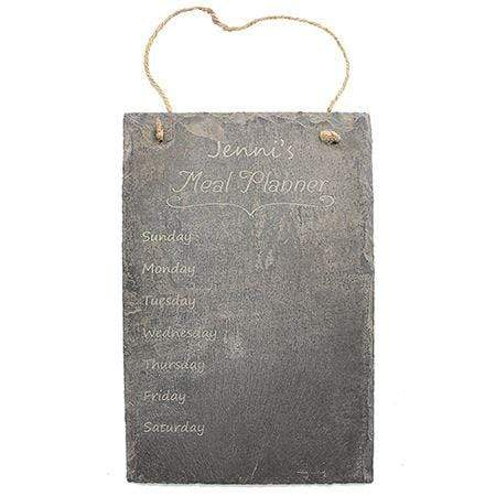 Slate Boards Meal Planner Engraved Slate Sign