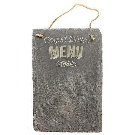 Slate Boards Menu Engraved Slate Sign