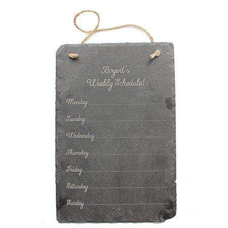 Slate Boards Weekly Schedule Engraved Slate Sign