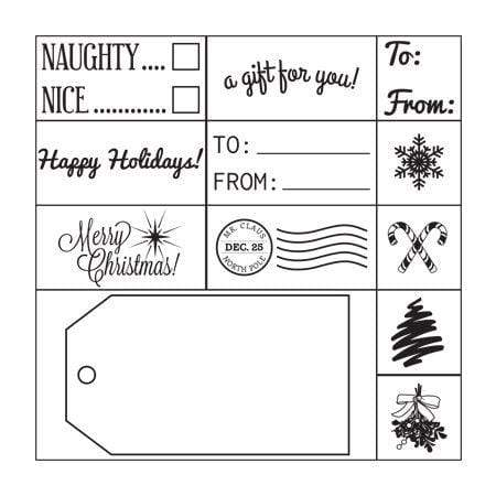 Stamp Kits Gift Tag Stamp Set