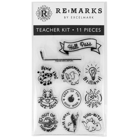 Teacher Cling Stamp Set