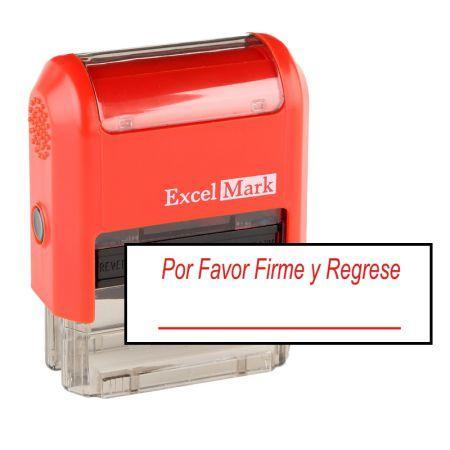 Teacher Stamps Firme Y Regrese Stamp (Two Color)