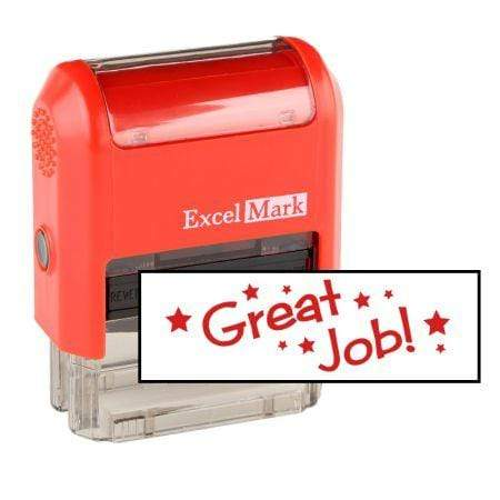Teacher Stamps Great Job! Stamp (Two Color)
