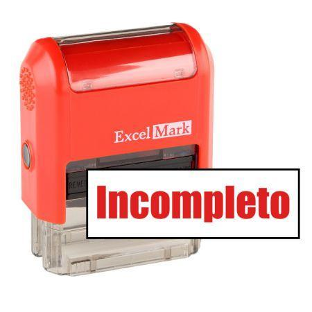 Teacher Stamps Incompleto Stamp (Two Color)