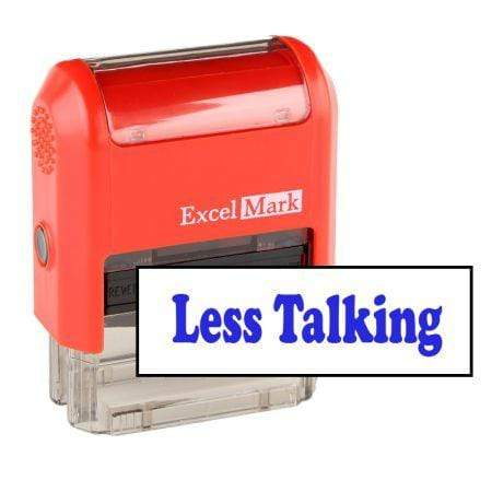Teacher Stamps Less Talking Stamp (Two Color)