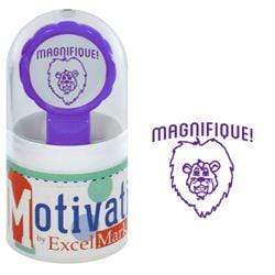 Teacher Stamps Magnifique! Purple Lion Stamp