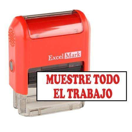 Teacher Stamps Muestre Todo El Trabajo Stamp (Two Color)