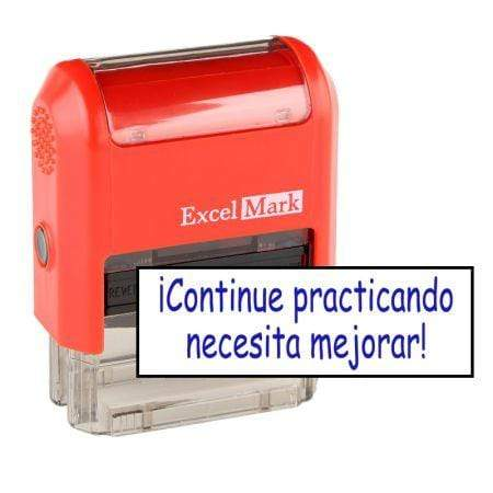 Teacher Stamps Necesita Mejorar Stamp (Two Color)