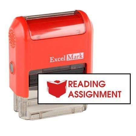 Teacher Stamps Reading Assignment Stamp (Two Color)