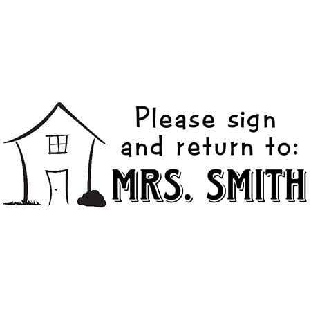 Teacher Stamps Sign And Return Teacher Stamp