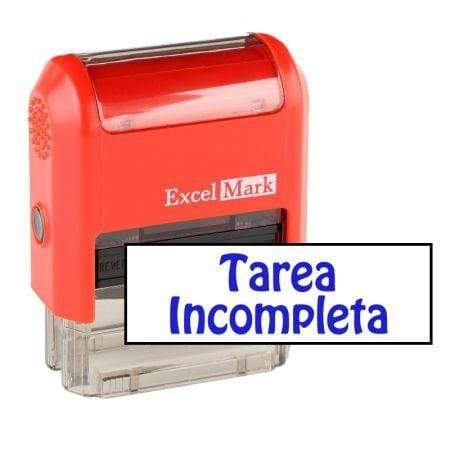 Teacher Stamps Tarea Incompleta Stamp (Two Color)