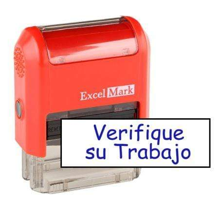 Teacher Stamps Verifique Su Trabajo Stamp (Two Color)
