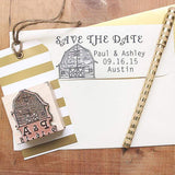 Wedding Stamps Barn Initials & Date Stamp