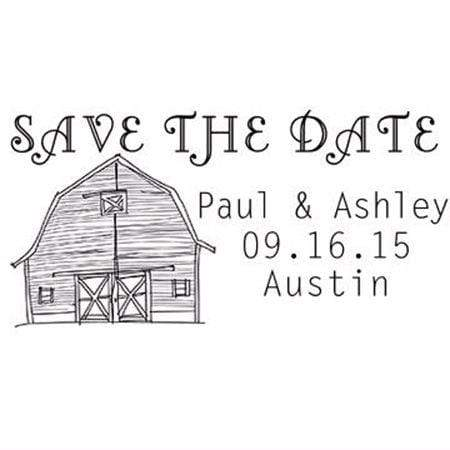 Wedding Stamps Barn Save The Date Stamp