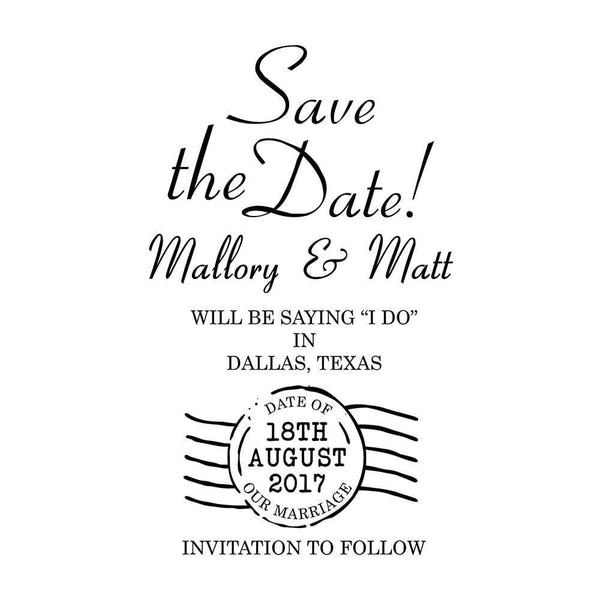 Wedding Stamps Postmark Save The Date Stamp