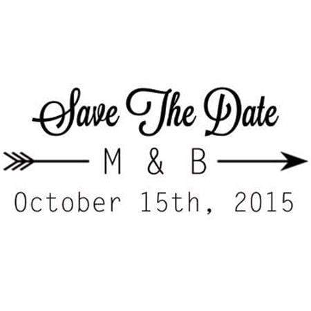 Wedding Stamps Save The Date Arrow Stamp