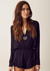 Stone Cold Fox - Love Jumper Romper - Black