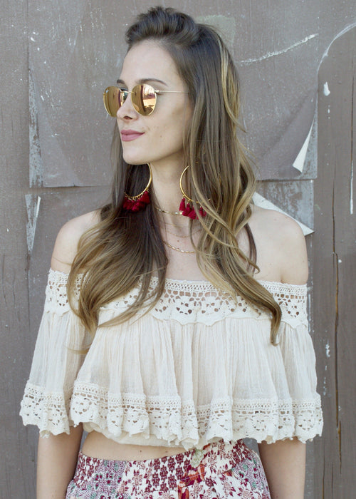 Jen's Pirate Booty Chiapas Summer Off-Shoulder Top