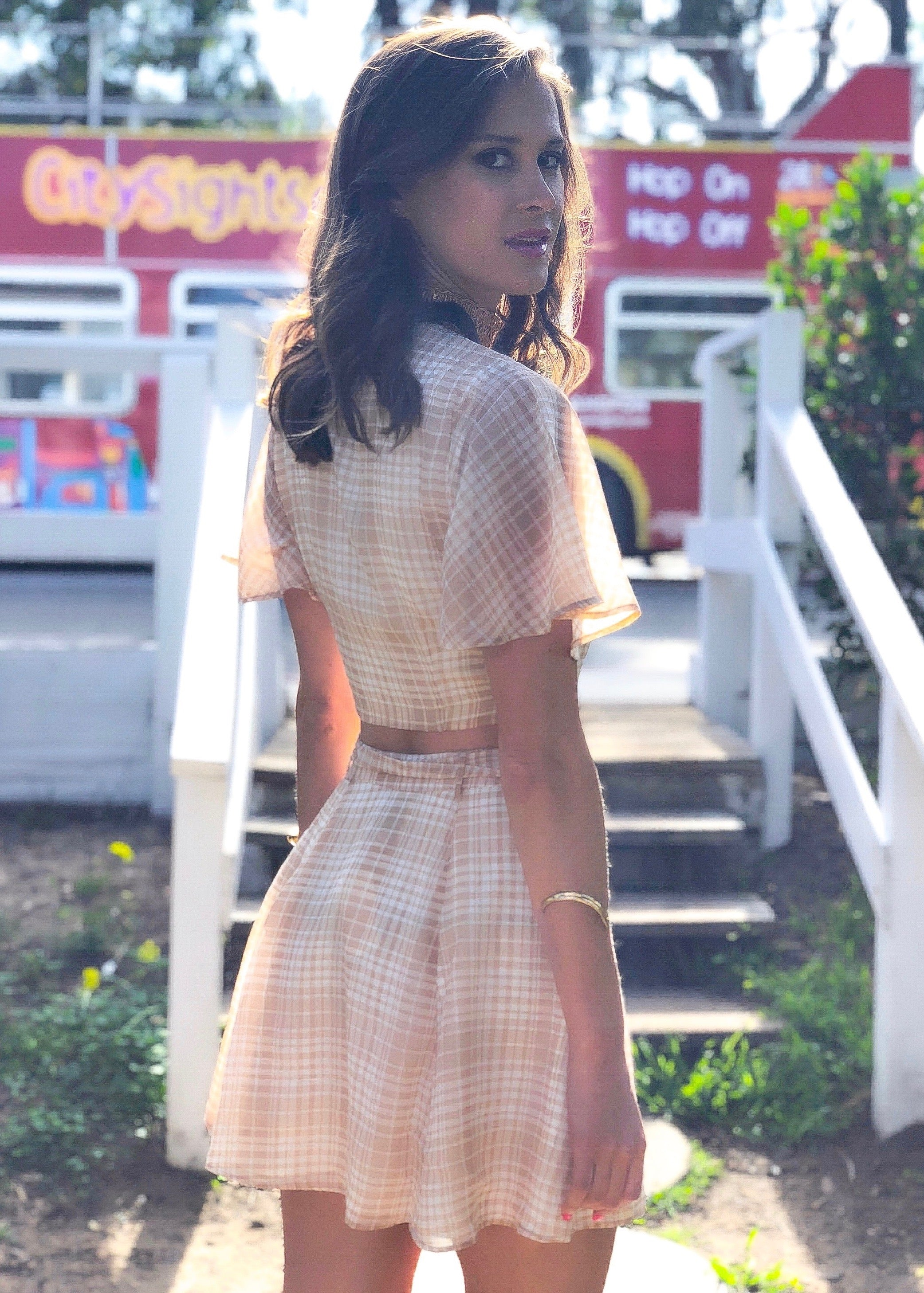 Plaid 2 Piece Matching Skirt Set