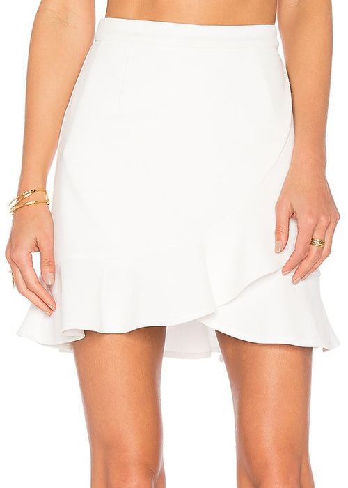 Lovers and Friends Stellar Skirt - White Ruffle Mini Skirt