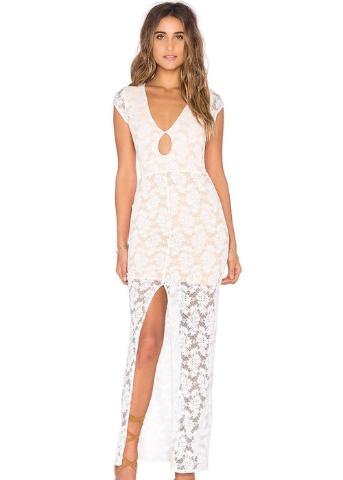 Teardrop Lace Maxi Dress