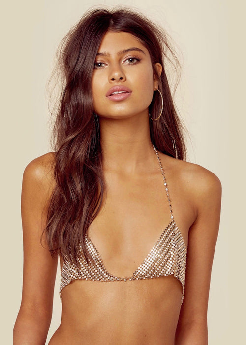 8 Other Reasons Calypso Bralette - gold