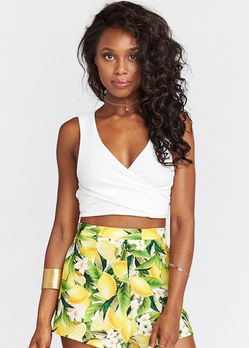 Conga Wrap Crop Top