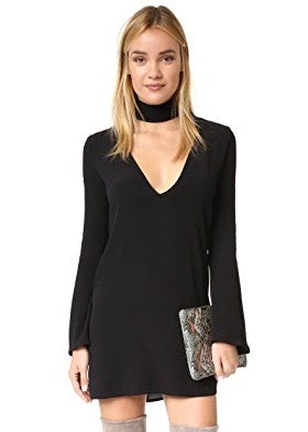 Flynn Skye Memphis Mini Dress - Choker Keyhole Neckline - Black