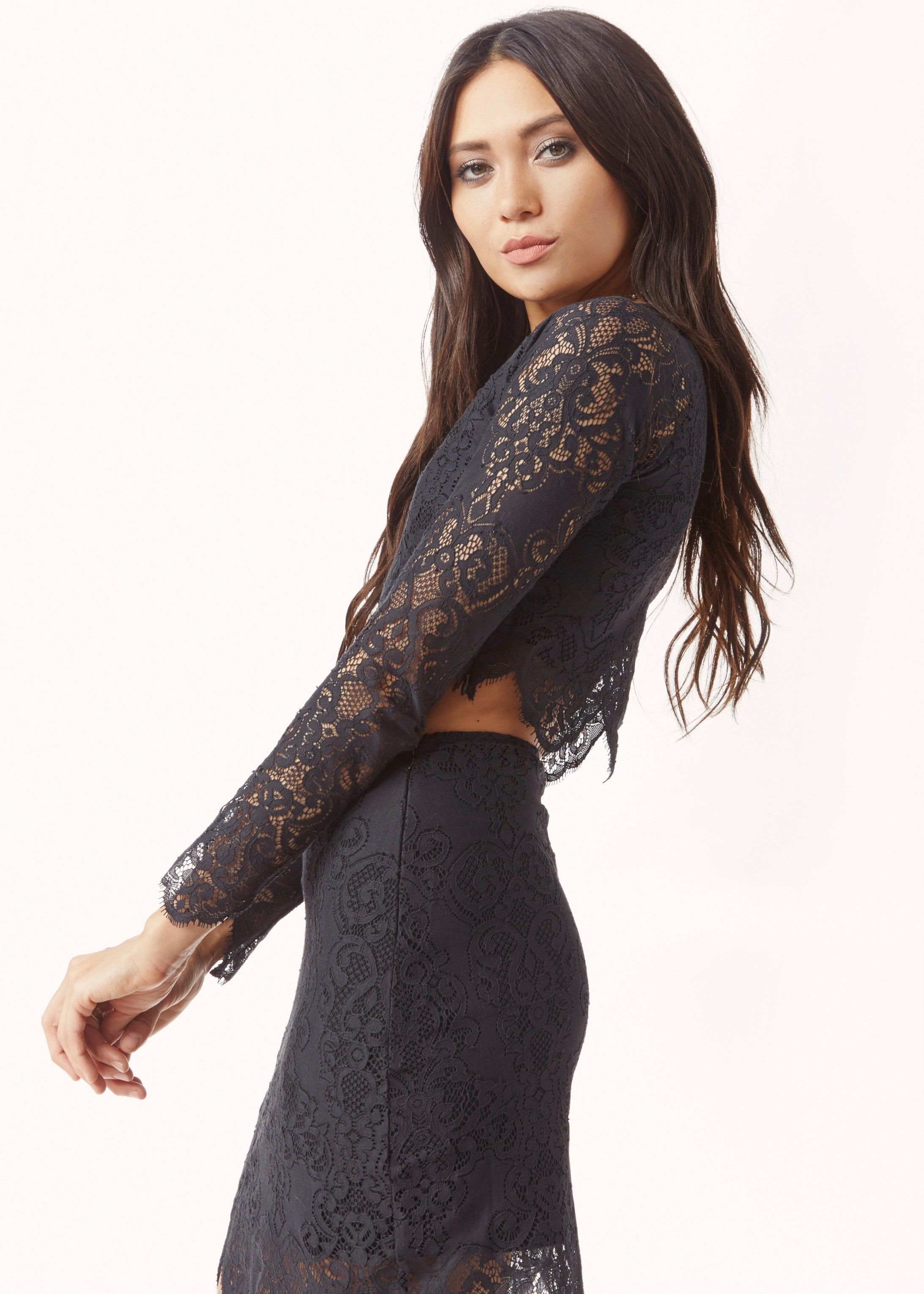Midnight Lace Crop Top