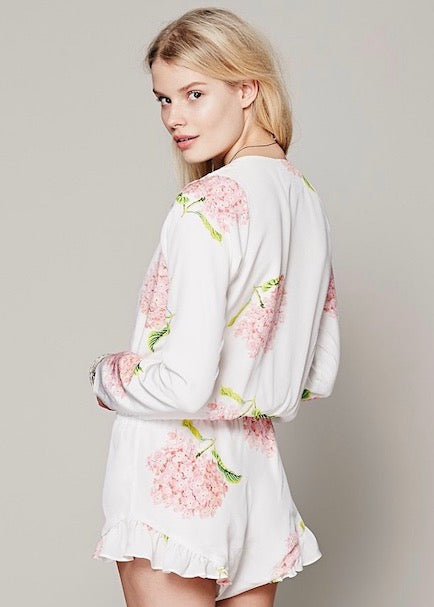 Stone Cold Fox - Love Bloom Romper Jumper - Pink White