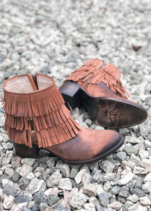 Belle Fringe Booties