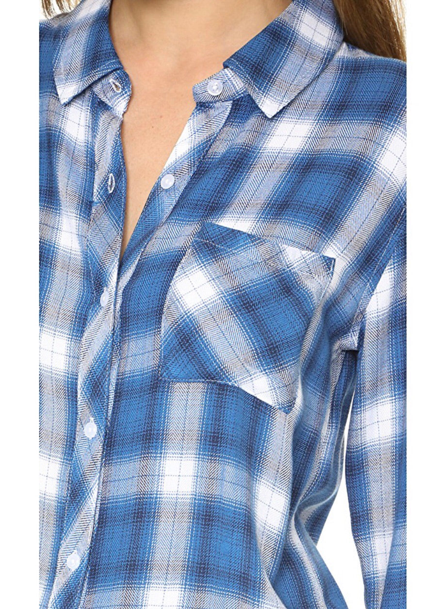 Hunter Button Down Flannel Top