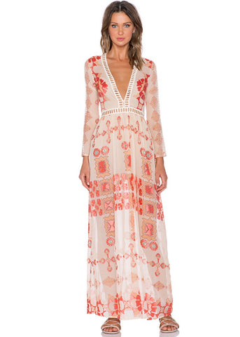 Vivi Burnout Maxi Dress