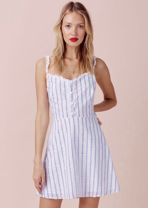 Picnic Eyelet Mini Dress