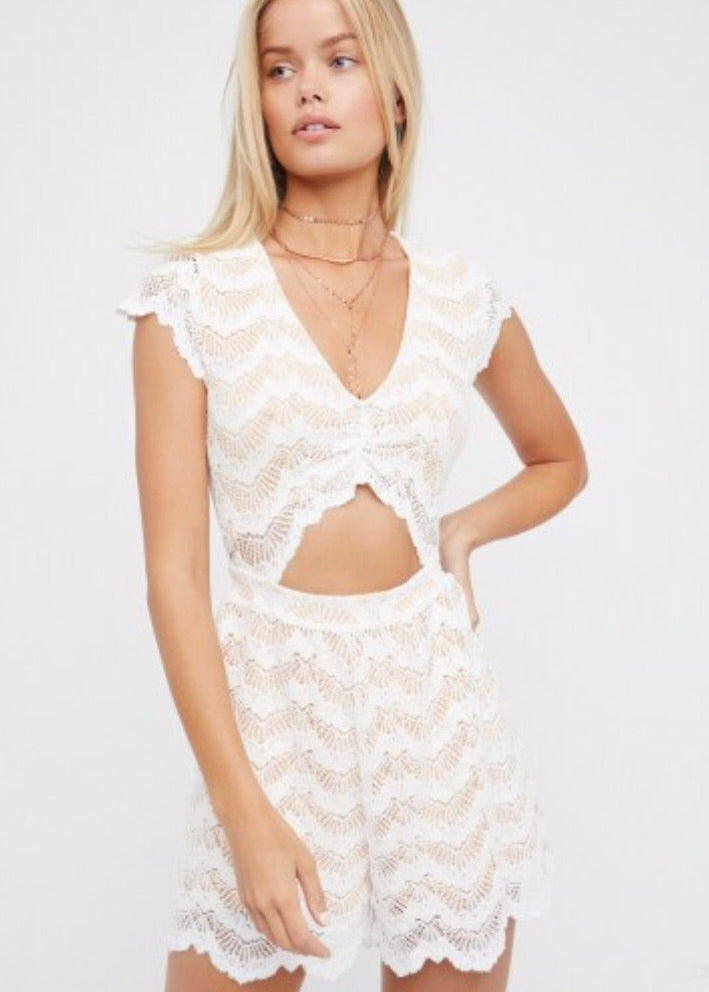 Mariposa Lace Playsuit